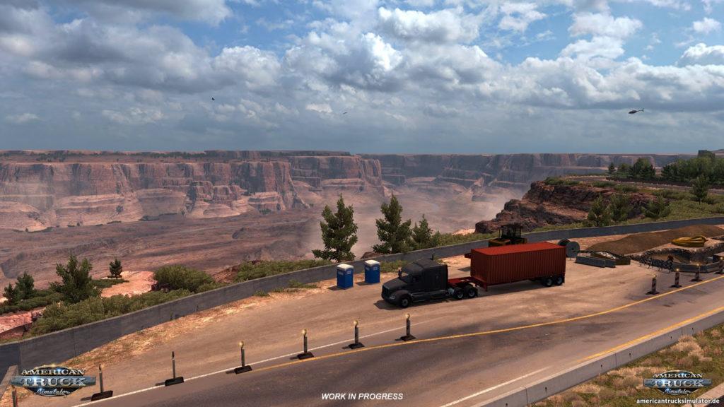 Arizona - Baustelle am Grand Canyon