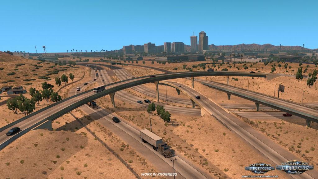 Arizona Autobahnkreuzung von oben